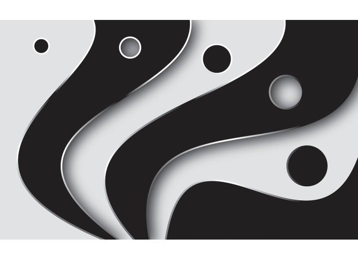 Fotobehang Papier Modern | Zwart, Grijs | 254x184cm