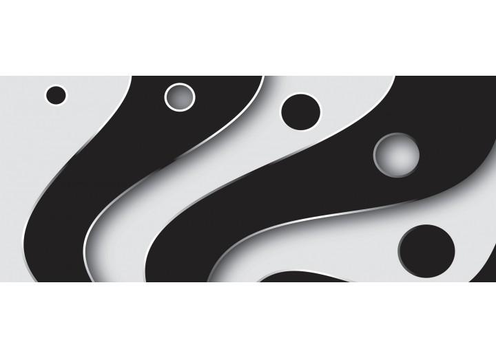Fotobehang Modern | Zwart, Grijs | 250x104cm