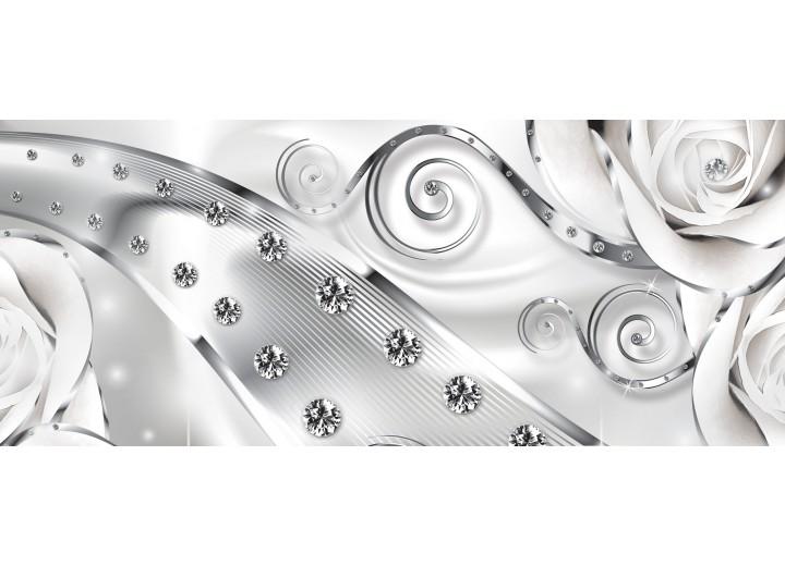 Fotobehang Abstract | Zilver | 250x104cm