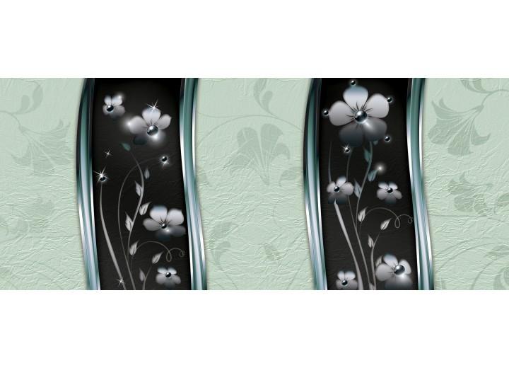 Fotobehang Bloemen, Klassiek | Groen | 250x104cm