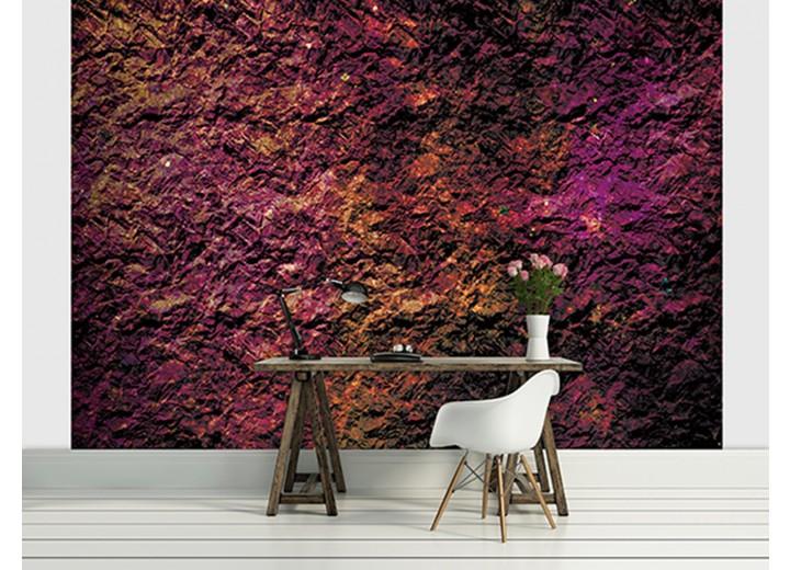 Fotobehang Muur | Paars | 104x70,5cm