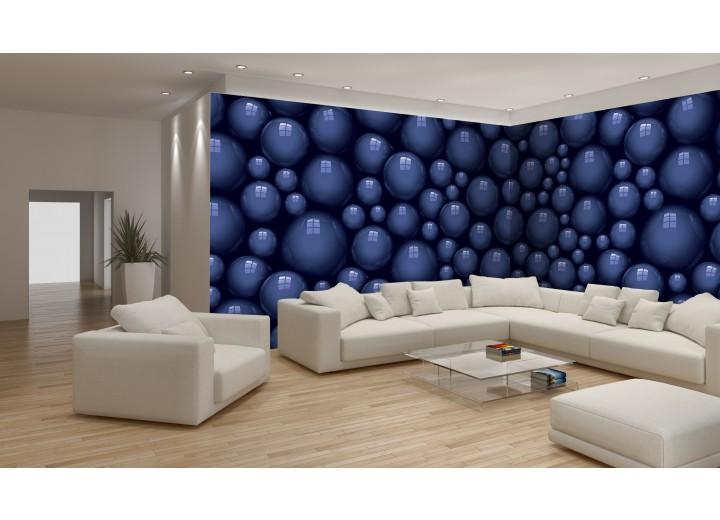 Fotobehang Vlies Design | Blauw | GROOT 624x219cm