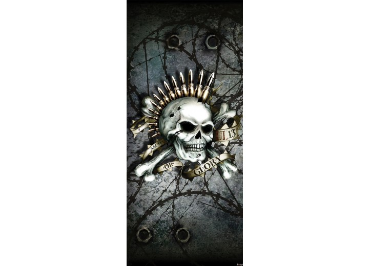 Deursticker Muursticker Alchemy, Gothic   Zwart   91x211cm