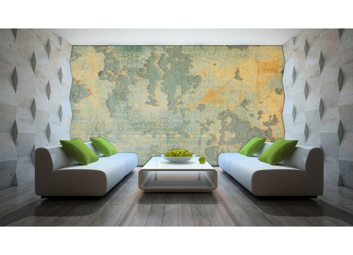 Fotobehang Industrieel, Muur | Geel | 104x70,5cm
