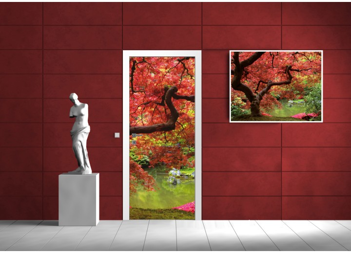 Deursticker Muursticker Natuur | Groen | 91x211cm