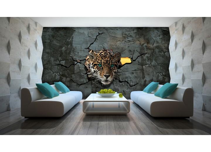 Fotobehang Vlies | 3D, Dieren | Grijs | 368x254cm (bxh)