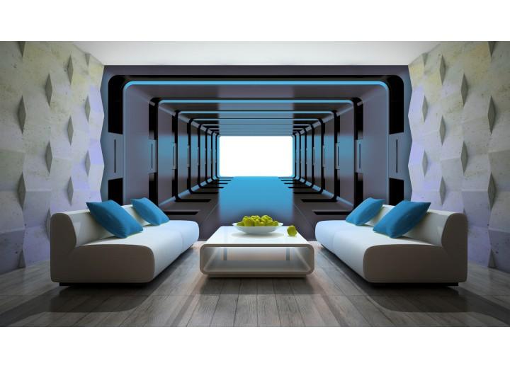 Fotobehang 3D, Design | Blauw | 416x254