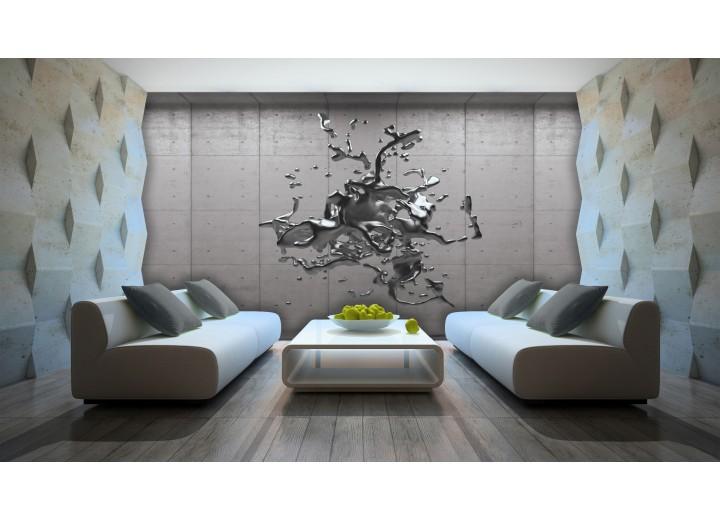 Fotobehang Papier 3D, Design | Grijs, Zilver | 368x254cm