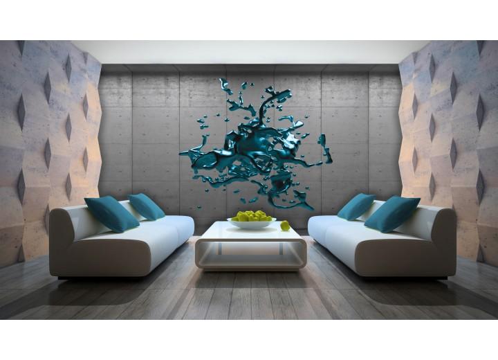 Fotobehang 3D, Design | Turquoise | 312x219cm