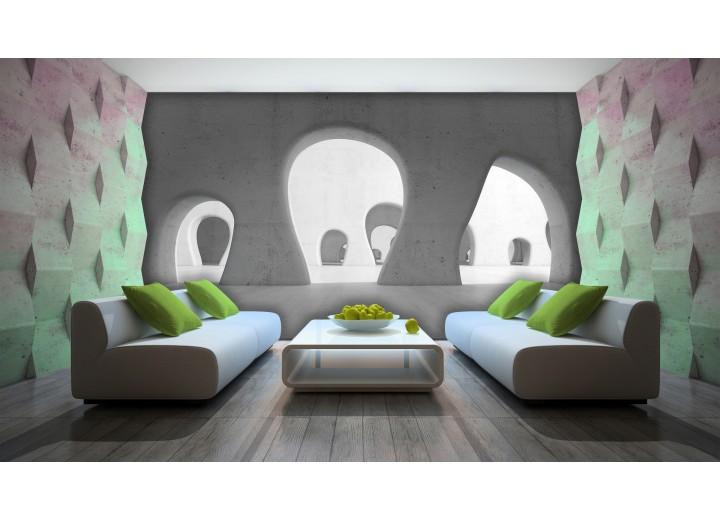 Fotobehang Design | Grijs | 312x219cm