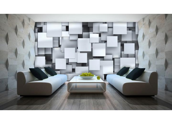 Fotobehang 3D, Design | Zilver | 152,5x104cm