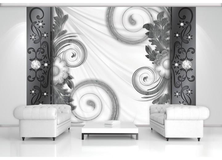 Fotobehang Modern | Grijs, Wit | 104x70,5cm