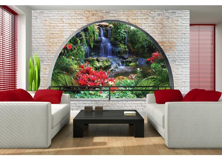 Fotobehang Natuur, Muur | Groen | 152,5x104cm