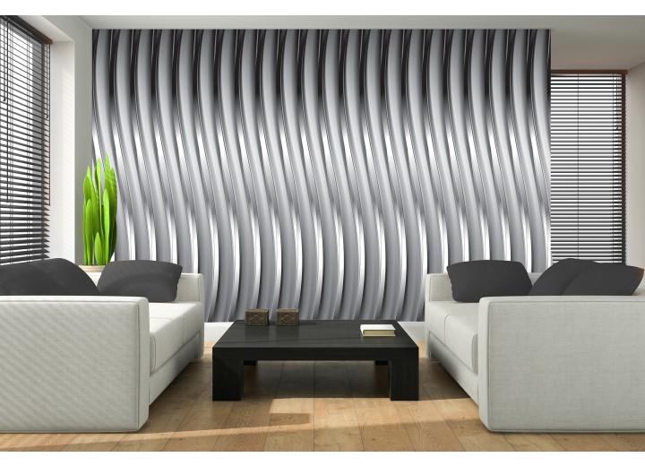 Fotobehang 3D, Design | Zilver | 312x219cm