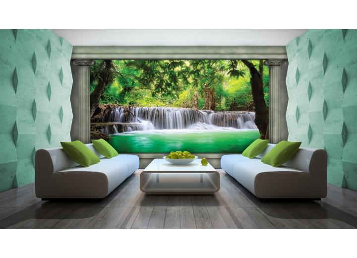 Fotobehang Waterval, Natuur | Groen | 104x70,5cm