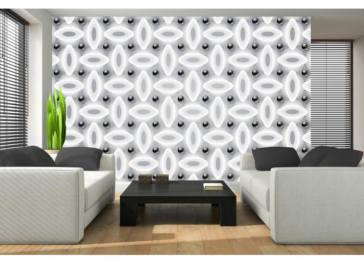 Fotobehang Modern | Zwart, Wit | 208x146cm