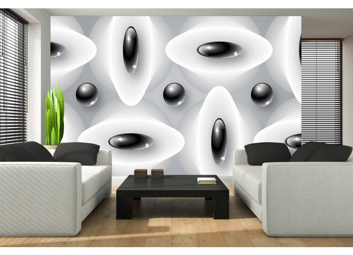 Fotobehang Modern | Zwart, Wit | 416x254