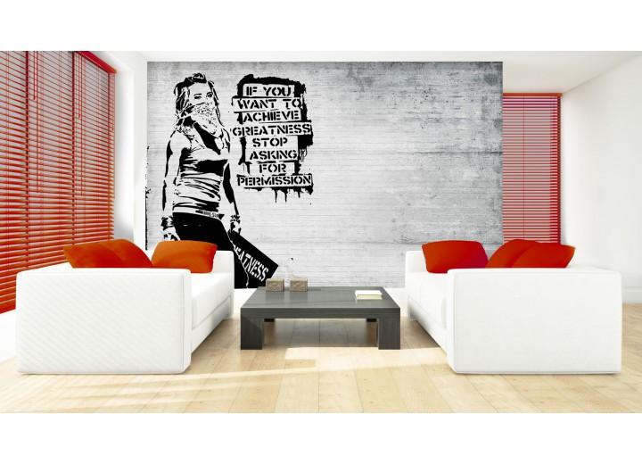 Fotobehang Street Art | Zwart, Wit | 208x146cm