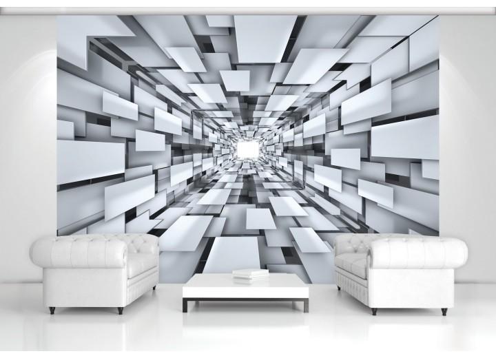 Fotobehang 3D, Modern | Zilver | 208x146cm