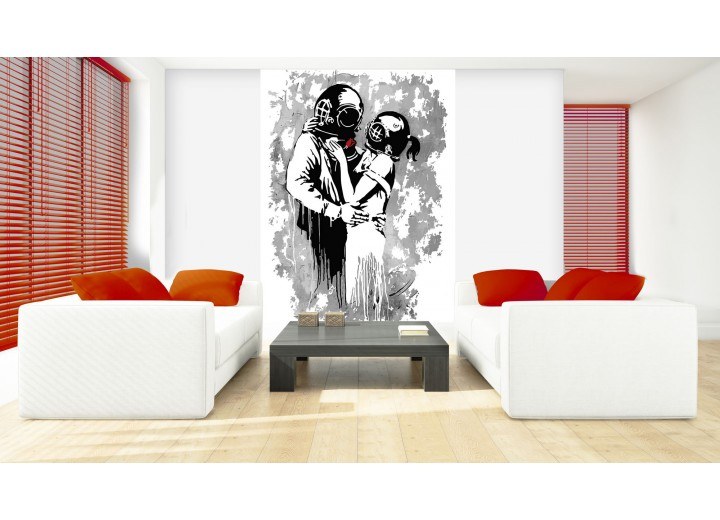 Fotobehang Papier Street Art | Grijs | 184x254cm