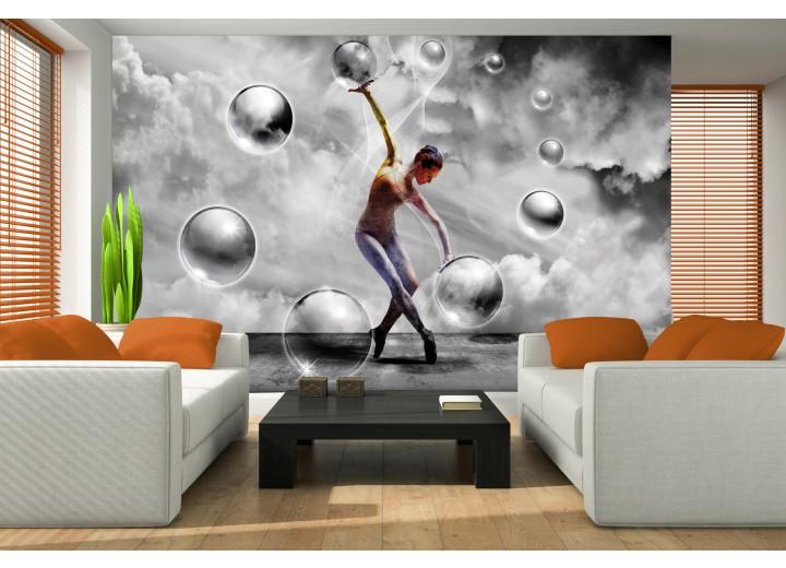 Fotobehang 3D, Dansen | Grijs | 104x70,5cm