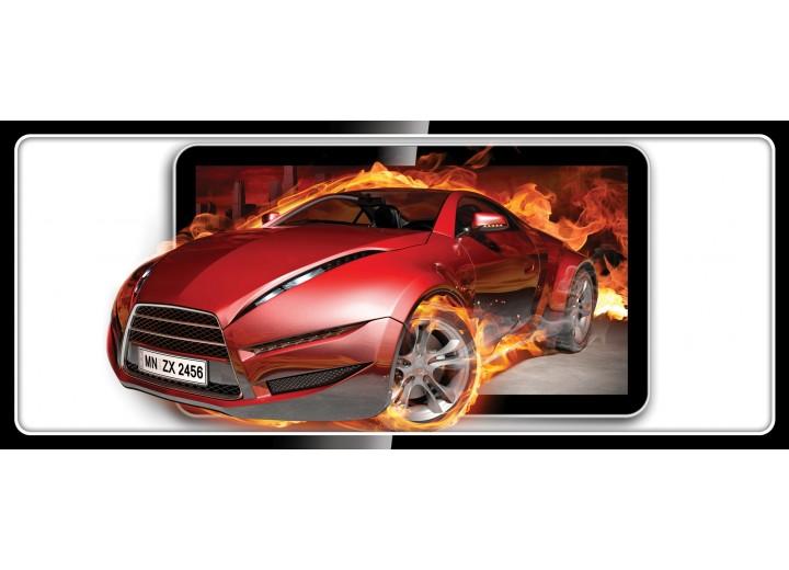 Fotobehang Auto, Vuur | Rood | 250x104cm