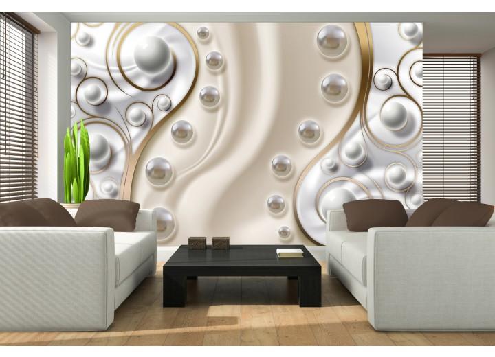 Fotobehang Modern | Zilver, Goud | 208x146cm