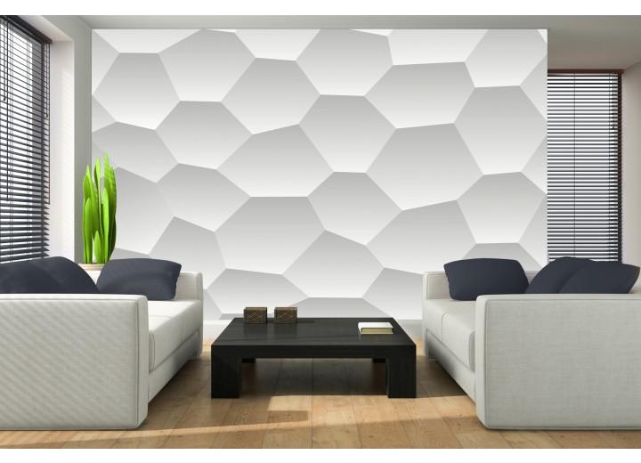 Fotobehang Design | Wit, Grijs | 152,5x104cm