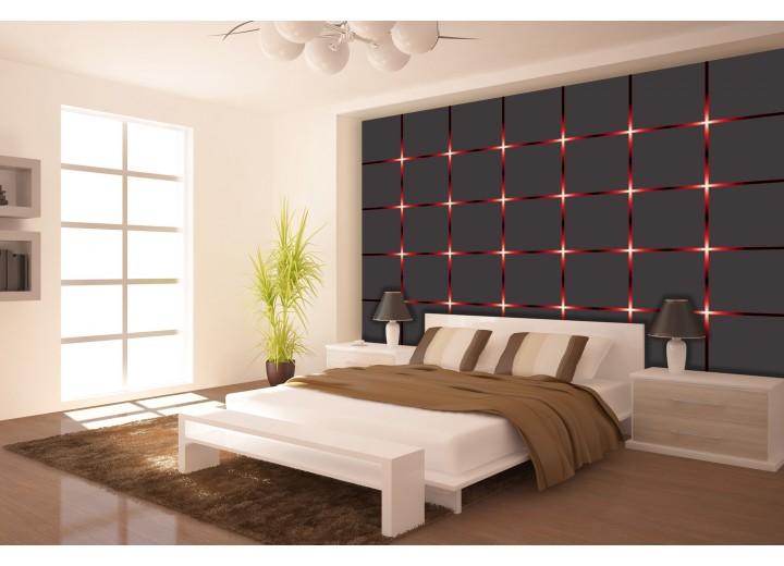 Fotobehang Modern | Rood, Grijs | 312x219cm