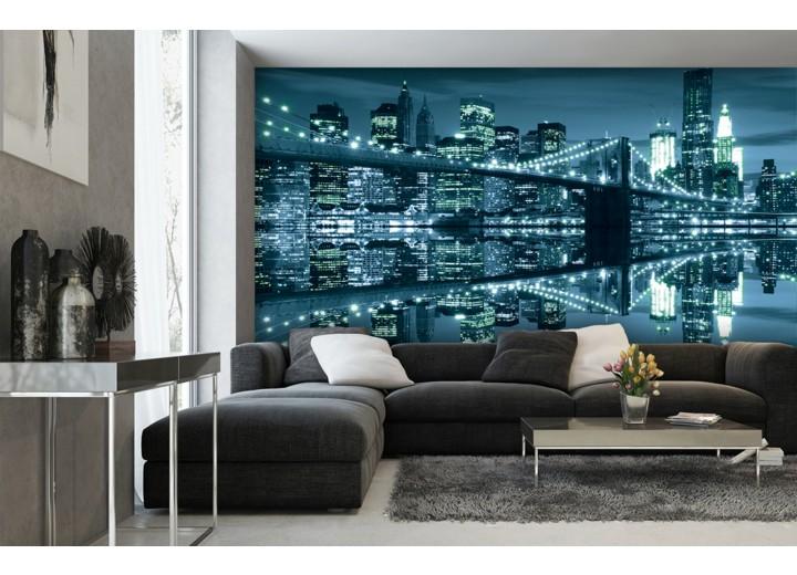 Fotobehang New York | Blauw | 104x70,5cm