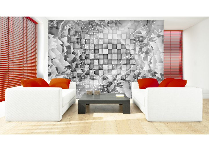 Fotobehang Modern | Grijs, Zilver | 208x146cm