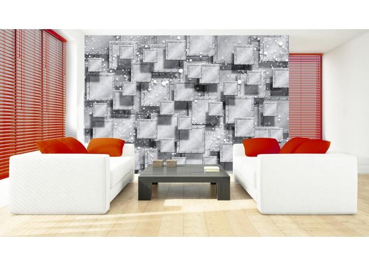 Fotobehang 3D, Modern | Grijs, Zilver | 152,5x104cm