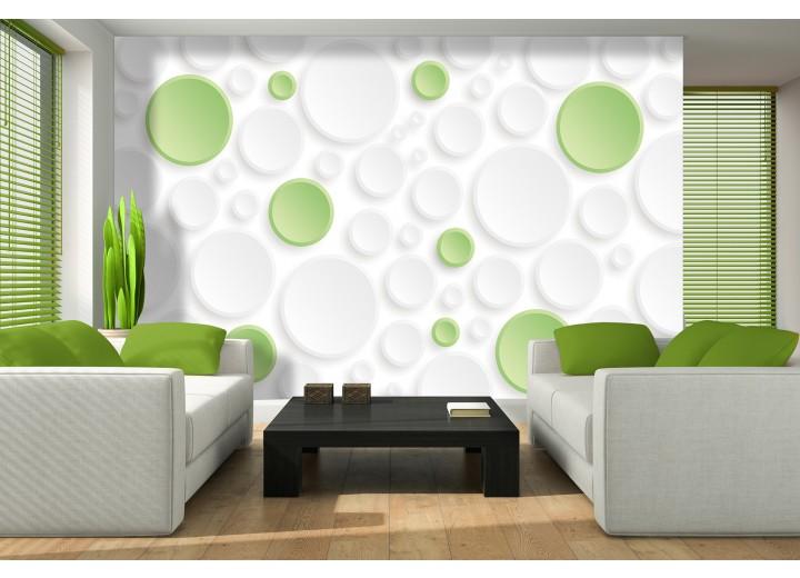 Fotobehang Modern | Groen,Wit | 312x219cm