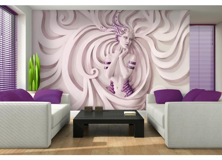 Fotobehang 3D, Modern | Paars | 312x219cm