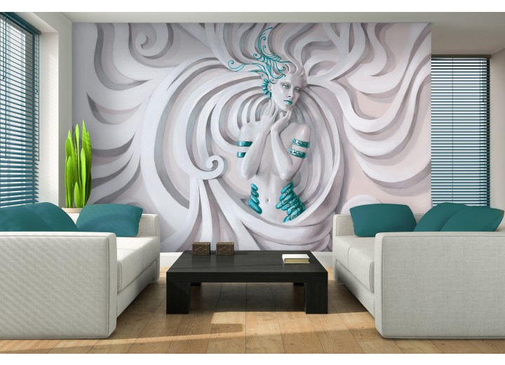 Fotobehang 3D, Modern | Turquoise | 152,5x104cm