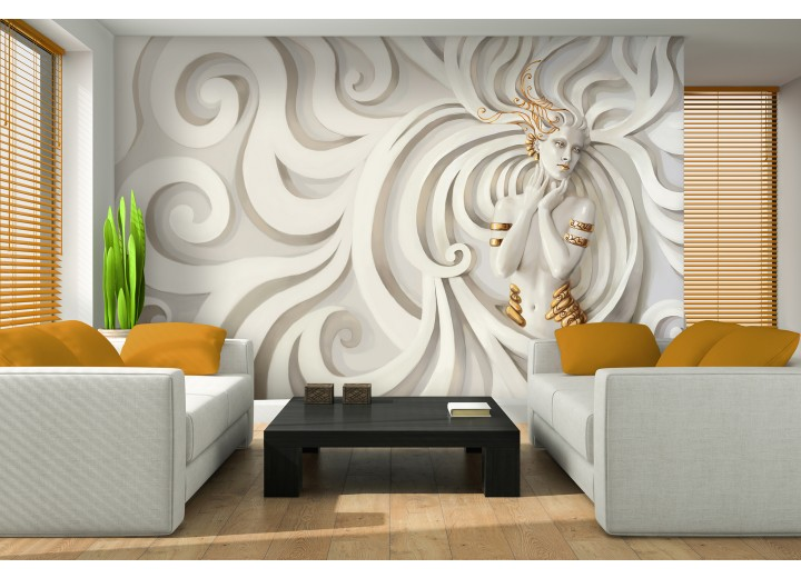 Fotobehang 3D, Modern | Goud | 208x146cm