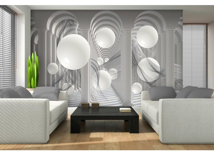 Fotobehang 3D, Modern | Wit | 416x254