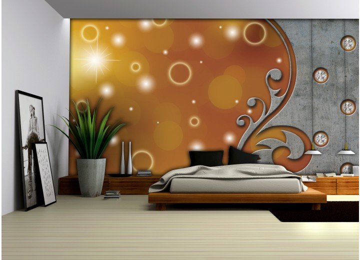 Fotobehang Modern | Bruin, Grijs | 104x70,5cm