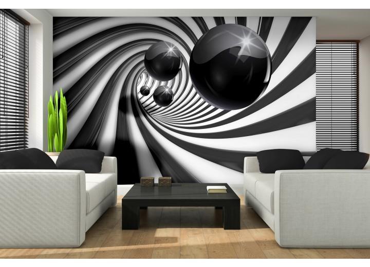 Fotobehang 3D | Zwart, Wit | 104x70,5cm