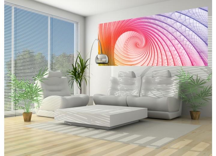 Fotobehang Abstract | Roze, Paars | 250x104cm