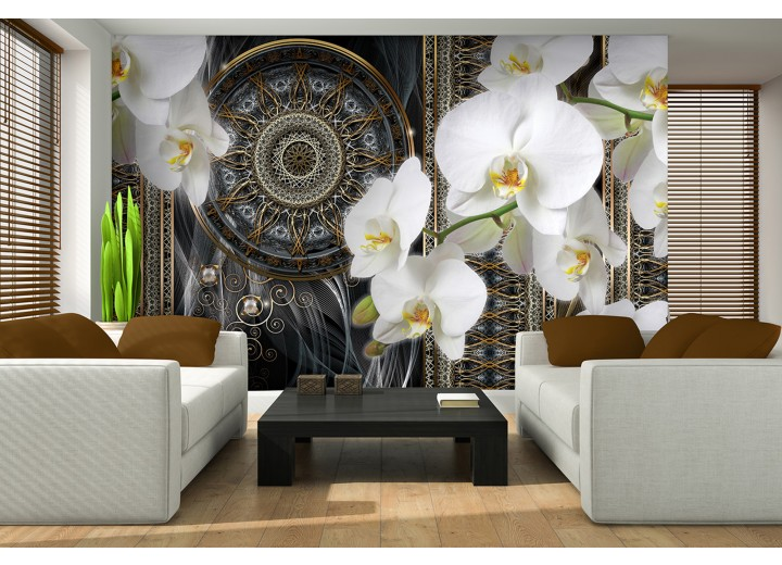 Fotobehang Vlies   Klassiek, Orchidee   Wit   368x254cm (bxh)