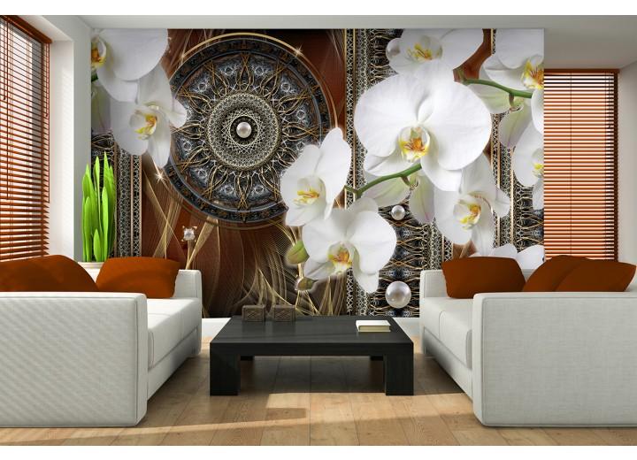 Fotobehang Klassiek, Orchidee | Bruin | 208x146cm