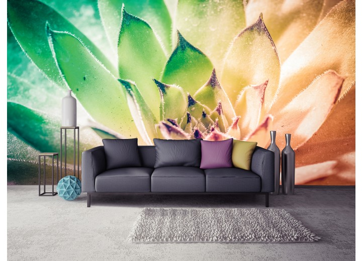 Fotobehang Bloem, Modern | Groen | 104x70,5cm