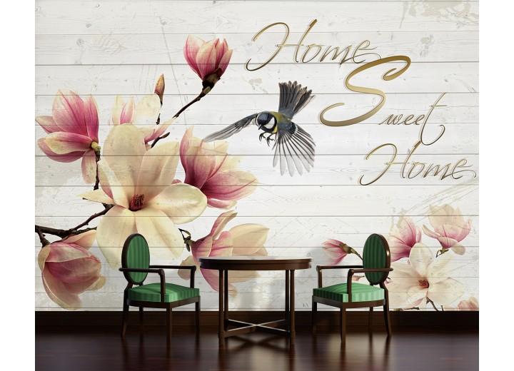 Fotobehang Vlies | Magnolia, Hout | Crème | 368x254cm (bxh)
