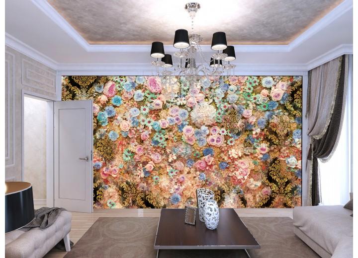 Fotobehang Bloemen, Klassiek | Roze | 152,5x104cm