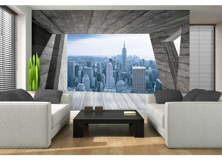 Fotobehang Skyline, Modern | Blauw | 416x254