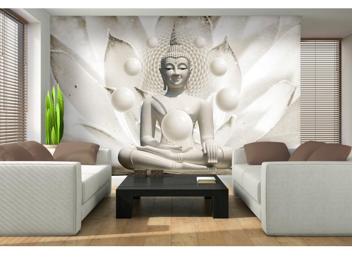 Fotobehang Boeddha, Zen | Wit | 416x254