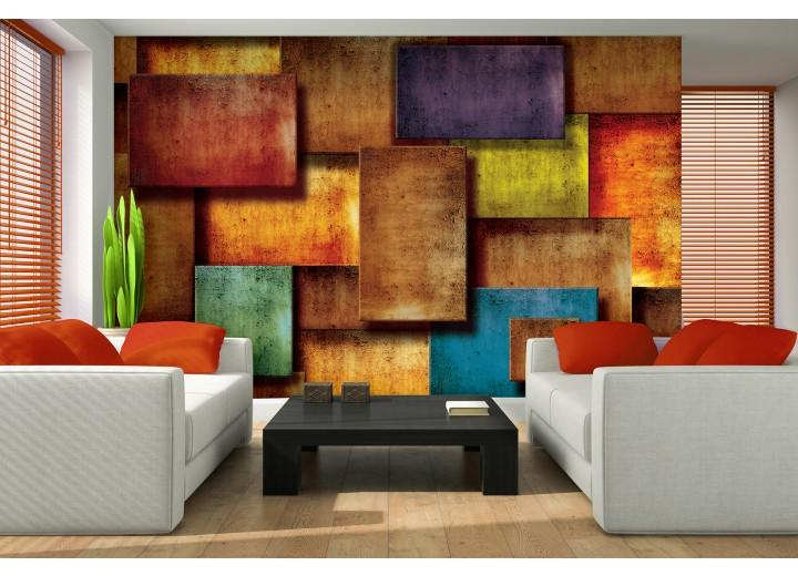 Fotobehang 3D, Modern | Oranje | 208x146cm