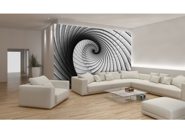 Fotobehang Design, 3D | Grijs | 104x70,5cm