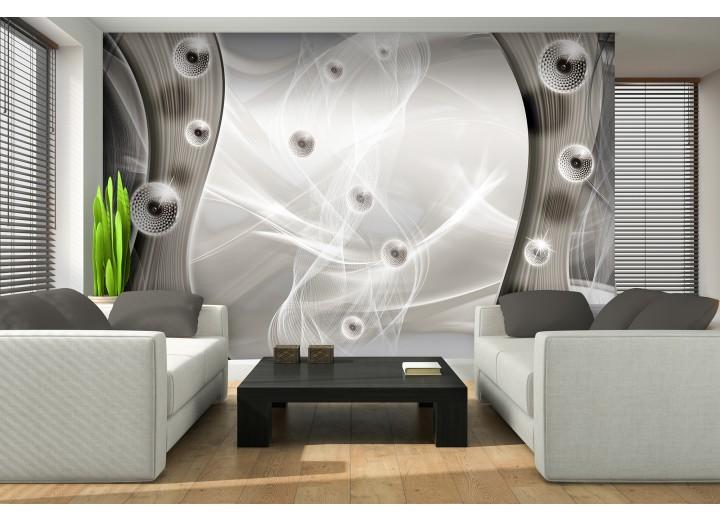 Fotobehang Design  | Zilver, Grijs | 152,5x104cm